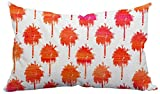Positively Home MiniPalmTrees_Orange_1 Trinidad Mini Palm Trees Outdoor Lumbar Pillow , 14'' X 20'', Orange,14'' X 20''
