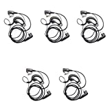 Buwico® 5pack 2-pin G Shape Earpiece Headset Headphone for Motorola Two-way Radio Walkie Talkie Cls1110 Cls1410 Cls1413 Cls1450 Cls1450c Etc