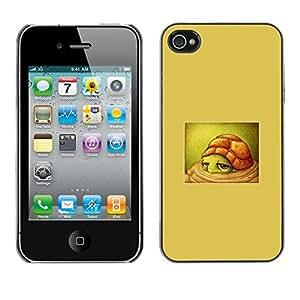 For Apple iPhone 4 / iPhone 4S / 4S Case , Cute Beige Kids Drawing Children - Diseño Patrón Teléfono Caso Cubierta Case Bumper Duro Protección Case Cover Funda