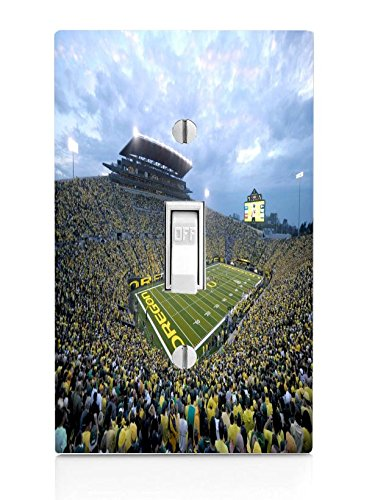 College Football Stadiums Light Switch Plate