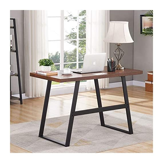 BON AUGURE Small Wooden Writing Desk, Industrial Computer Desk for Small Spaces, Rustic Table Desk for Home Office (47… -  - writing-desks, living-room-furniture, living-room - 5135%2BYgFwSL. SS570  -