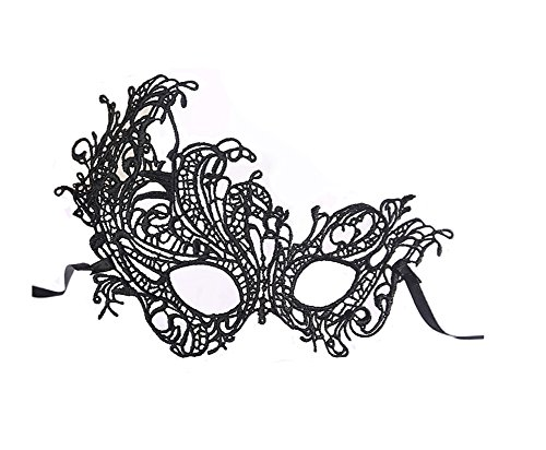 Trimengo Sexy Lace Masquerade Mask for Women Mardi Gras Eye Mask Venetian Style Ball Sexy Ball
