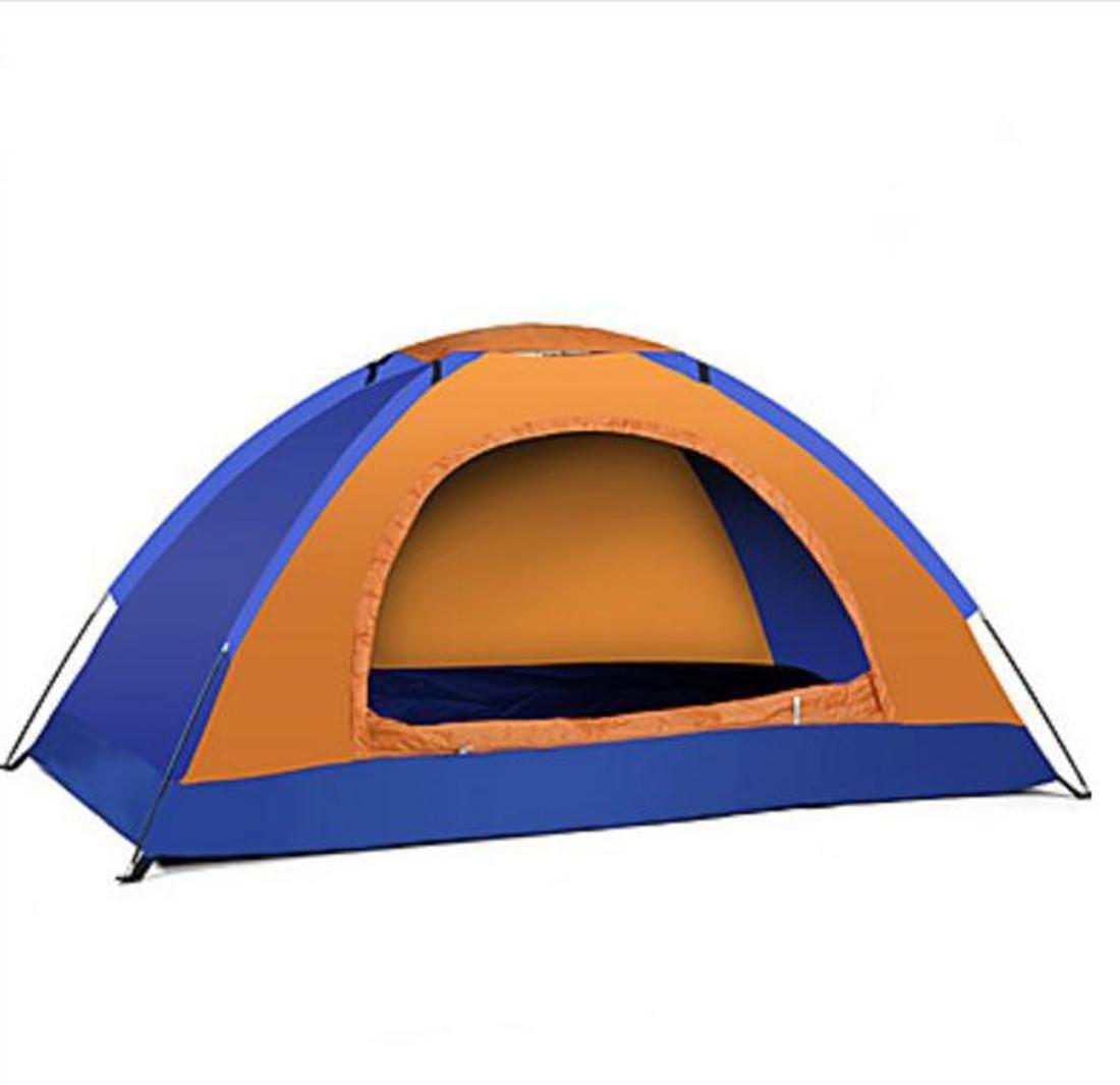 1 Person Zelt Einzeln Automatisches Zelt Einzimmer Camping Zelt Oxford Gewebe Camping & Wandern Wasserdicht warm halten Extraleicht(UL) , Blau-Gelb