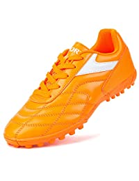 Barerun Kids'Womens Mens Outdoor/Indoor Soccer Shoes Football Training Cleat Shoes