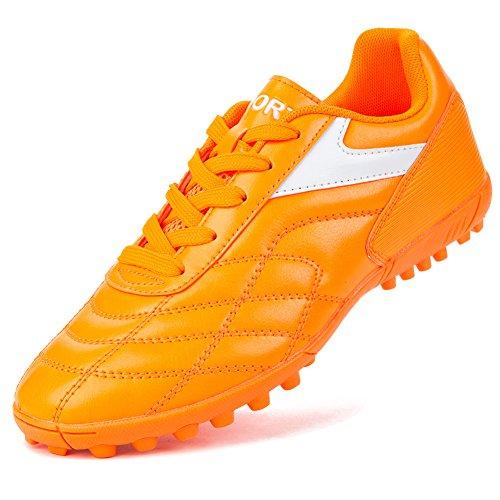 Galleon - Barerun Turf Soccer Shoes Boys Girls Womens Mens Orange 9 (D) M US a3f1eec54