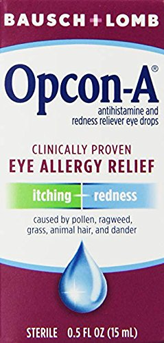Bausch & Lomb/Opcon-A Eye Drops 15 ml (Pack of 3) (pack of 6)