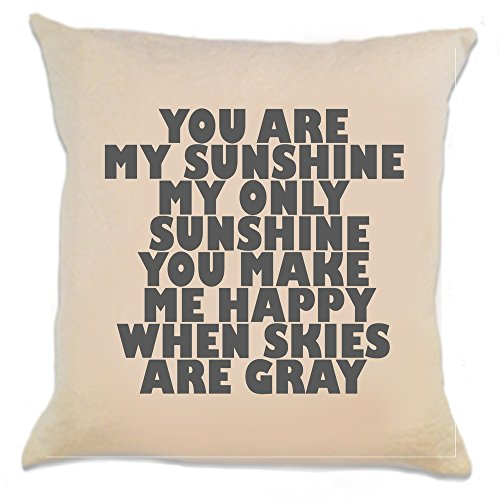 You Are My Sunshine 12 x 12 Inch Decorative Pillow