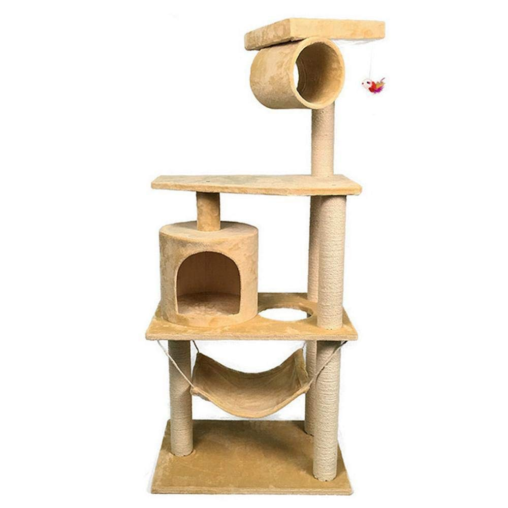 Deluxe Multi Cat Tower Creative Play Towers Trees for Cats Cat Climb Frame cat nest cat Tree for Sleeping Games 55cm 65cm  155cm