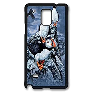 Find 10 Puffins Custom Back Phone Case for Samsung Galaxy Note 4 PC Material Black -1210437