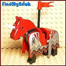 N701 Lego Black Battle Horse with Scorpion Barding Vladek Pattern (NEW Lego Sold Loose as Image Show)
