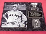Red Sox Babe Ruth 2 Card Collector Plaque w/ 8x10 Vintage Photo