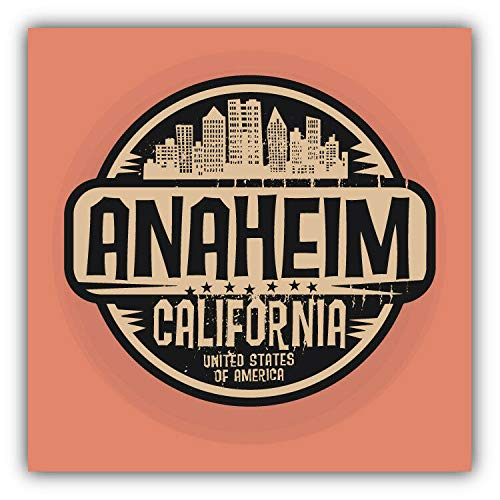 KW Vinyl Anaheim City USA Grunge Label Truck Car Window Bumper Sticker Decal 5
