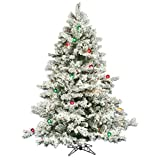 Pre-lit Multi Light 6.5 ft. Flocked Alaskan Tree