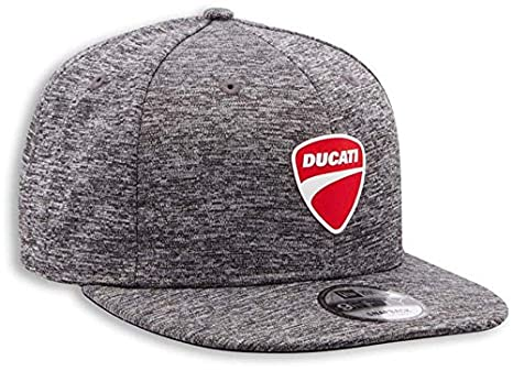 71e06fcc3 Ducati Company Logo Techjers Baseball Flat Brim Hat by New Era Grey  987697000