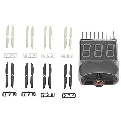 Sharplace 8 Paires 5030 CW CCW Hélice + 2 en 1 Testeur Buzzer Kit Pièces de Remplacement pour RC Drone