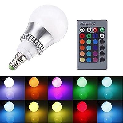 E14 Led Bulbs - Rgb E14 5w Led Bulb Color-Changing Globe Light Lamp + Remote Control Ac 85-265v - Color Changing Light Bulb Bulbs ColoredRemote Color-Changing - Led - 1PCs