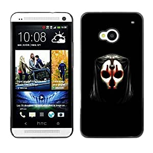 Impact Case Cover with Art Pattern Designs FOR HTC One M7 Skull Mask Face Anonymous Art Alien Human Betty shop