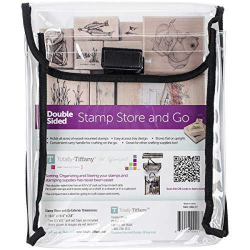 Rubber Stamp Storage - Totally-Tiffany Stamp, Store and Go Bag Double-Sided, 9 x 11.5 x 2-inch