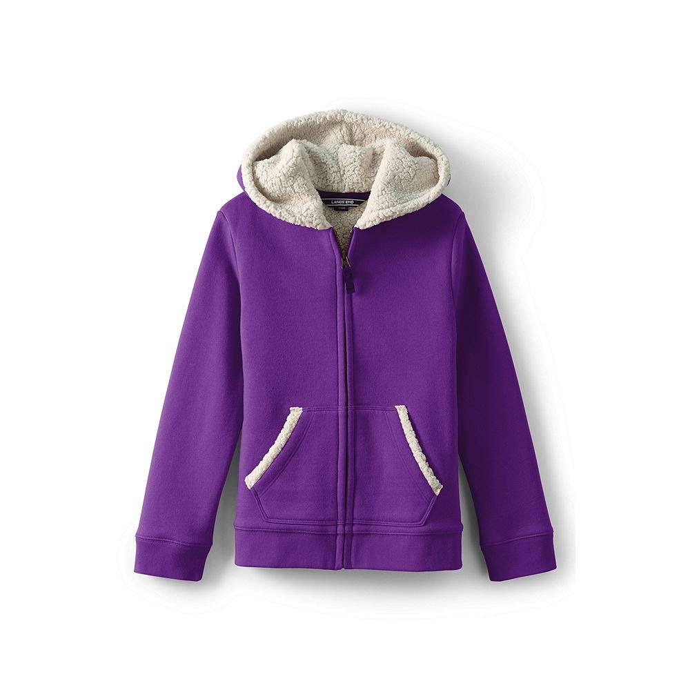 Lands' End Little Girls Sherpa Lined Hoodie classic