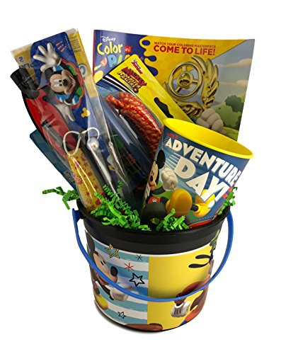Boys Mickey Prefilled and Premade Party Gift Basket Toy Favor Set For Kids -