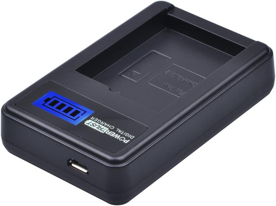 PowerTrust Chargeur LCD USB pour batterie DMW-BLC12 DMW-BLC12e pour appareils photo num/ériques Panasonic Lumix DMC-FZ200 DMC-FZ1000 DMC-G5 DMC-G6 DMC-GH2