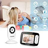 Baby Monitor with Camera, Anmade SM35RX 2.4GHz Wireless WiFi Video Audio, HD Optics Cam,3.5 inch LCD Screen, Night Vision & Temperature Sensor, 2-Way Audio, Long Range and High Capacity Battery