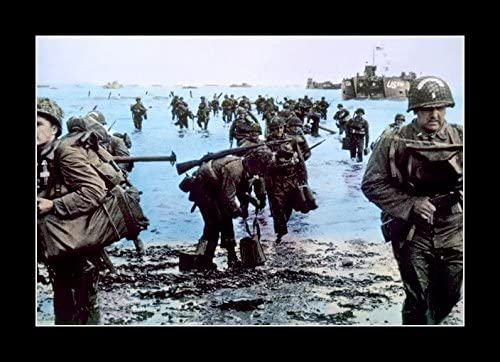 World War 2 Soldiers at Normandy Framed Print Picture Poster Military WW2