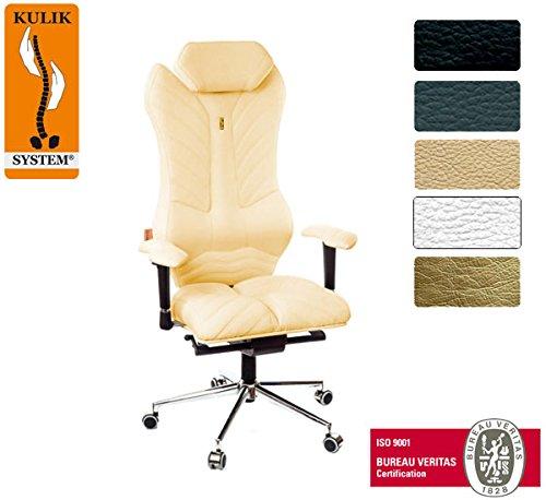 Kulik System© MONARCH Luxury Italian Höchste Qualität Ergonomic Büro / Hause Computer Schreibtisch Lehnstühle Stühle Sessel (Elfenbein)