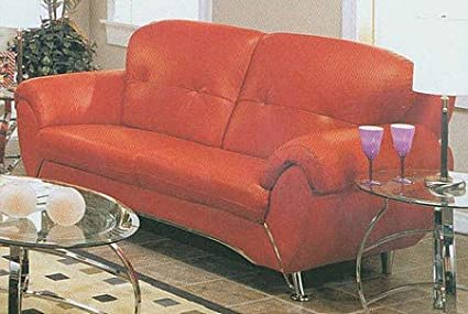Amazon.com: Retro 50s Modern Red Sofa/Couch Contemporary 100 ...