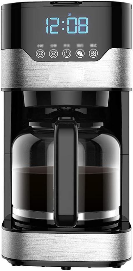 Y&J Cafeteras Programables Máquina De Café con Filtro 1.5 litros Reloj Y Temporizador Máquina De Café Sistema Antigoteo Filtro Reutilizable Permanente Negro Y Plata: Amazon.es: Hogar