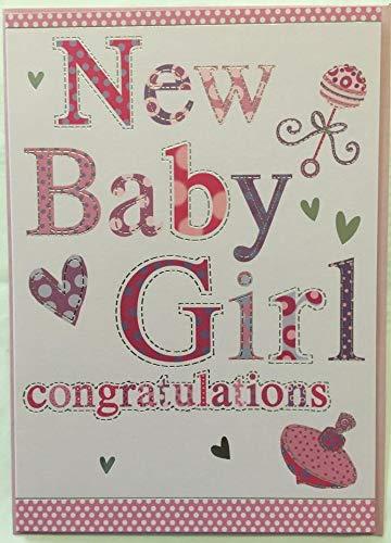 Nuevo/Tarjeta de felicitaciones de niña: Amazon.es: Hogar
