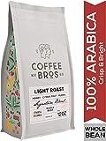 Coffee Bros., Light Roast Coffee Beans, Whole Bean, 100% Arabica Coffee Beans, Gourmet Coffee, Crisp & Bright, 12oz