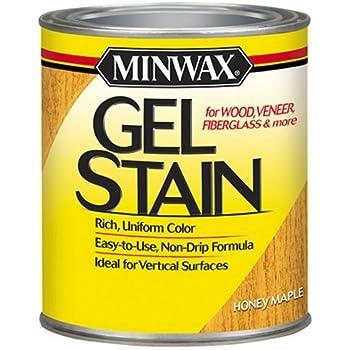 Minwax 260404444 Interior Wood Gel Stain, 1/2 pint, Honey Maple