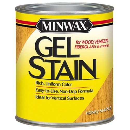 Minwax 260404444 Interior Wood Gel Stain, 1/2 pint, Honey ()