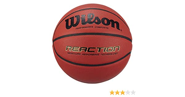 Wilson Wlson Reaction - Pelota de baloncesto: Amazon.es: Deportes y aire libre
