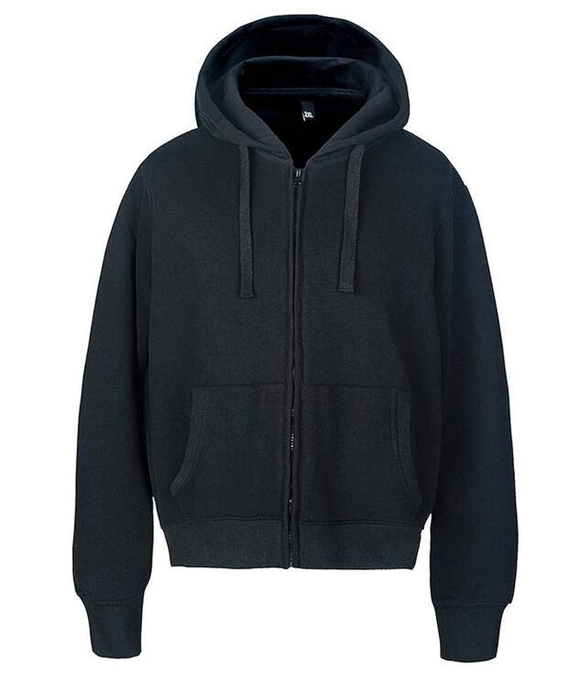 JXG Men Full-Zip Warm Sherpa Lined Polar Fleece Hoodie Jacket Sweatshirt