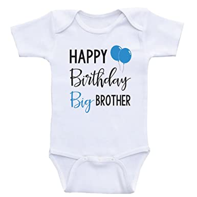 4c5479dd1a Birthday Baby Onesie Happy Birthday Big Brother Cute Birthday Baby Clothes  (3mo-Short Sleeve