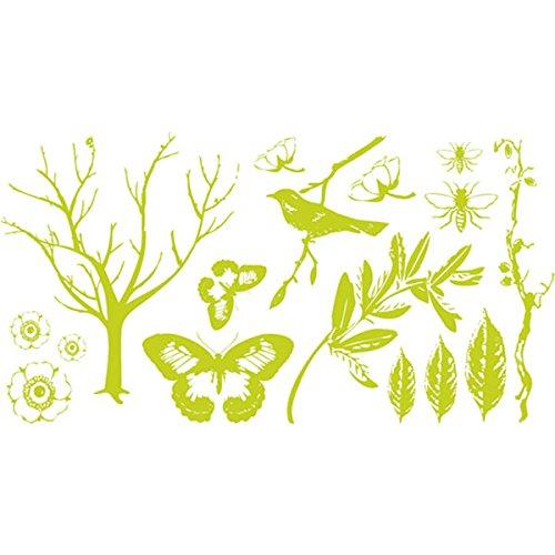 QUICKUTZ Lifestyle Crafts Lifestyle Crafts Botanical Letterpress Printing Plate Set