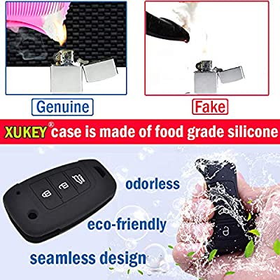 Fits For Acura MDX RDX RLX ILX TLX Silicone Remote Key Case Fob Shell Cover Skin Holder 4 Button 2016-2020: Automotive