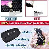 XUKEY 2 Button Silicone Car Key Cover Remote Fob