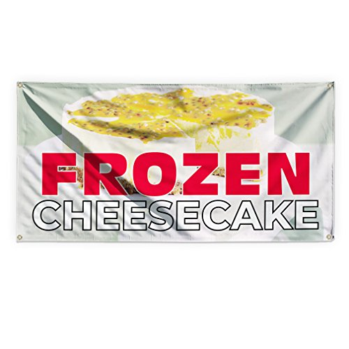 Frozen Cheesecake #1 Outdoor Advertising Printing Vinyl Banner Sign With Grommets - 5ftx10ft, 10 (10' Cheesecake)