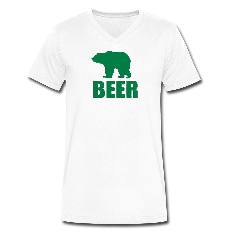 Custom Design HEMQ Bear Beer T-Shirts White
