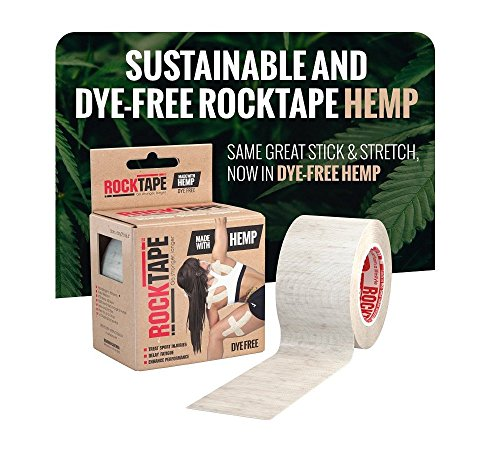Rocktape Hemp Kinesiology Tape, Dye Free, Cotton Free, Water Resistant, Reduce Pain & Injury Recovery, Sustainable, 16.4 Feet Roll by Rocktape (Image #6)