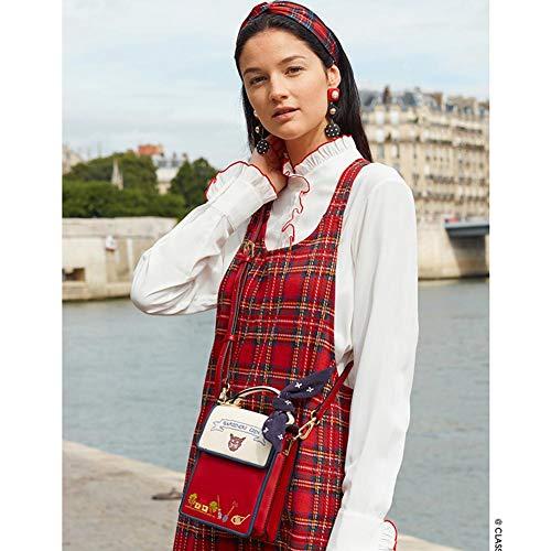 Donna Red Nero Large HwypPoschette Giorno iuOkXPZ