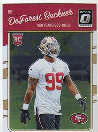 ad75c10c712 2016 Donruss Optic  112 DeForest Buckner San Francisco 49ers Rookie Football  Card