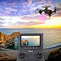 ECLEAR RC Foldable Mini Quadcopter Drone RTF 720P HD Camera WiFi FPV Nano Helicopter 2.4GHz 4CH 6 Axis Gyro Aircraft Toys For Adult Kids Aerial Photography Racing