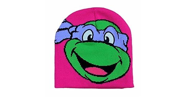 Amazon.com  Teenage Mutant Ninja Turtles Girls Pink Donatello Beanie  Stocking Cap Winter Hat  Clothing 397f447ae677