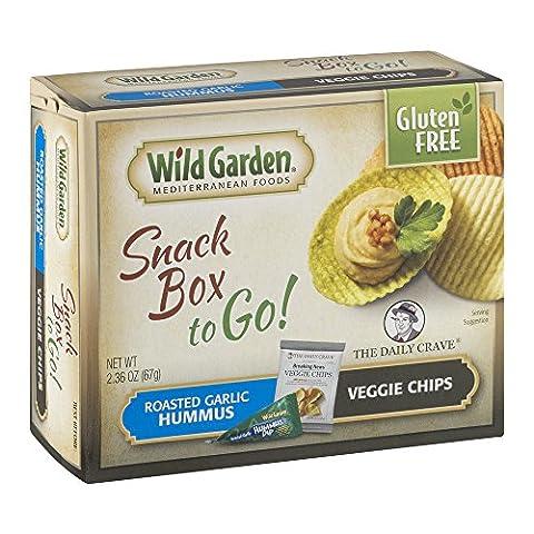 Wild Garden Snack Box to Go! Roasted Garlic Hummus/Veggie Chips (Roasted Garlic Hummus)