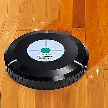 Auto Vacuum Cleaner Robot Microfiber Smart Robotic Mop Automatic Dust Black