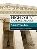 High Court Case Summaries on Civil Procedure, Keyed to Friedenthal, 11th, Publishers Editorial Staff, 0314291652